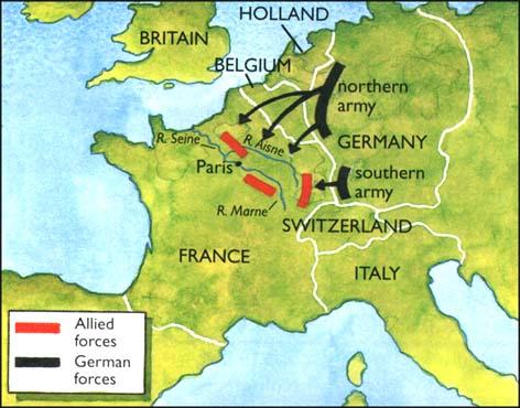 Why did the schlieffen plan fail in ww1